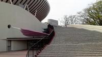 階段下には「中畑清記念館」の入り口が